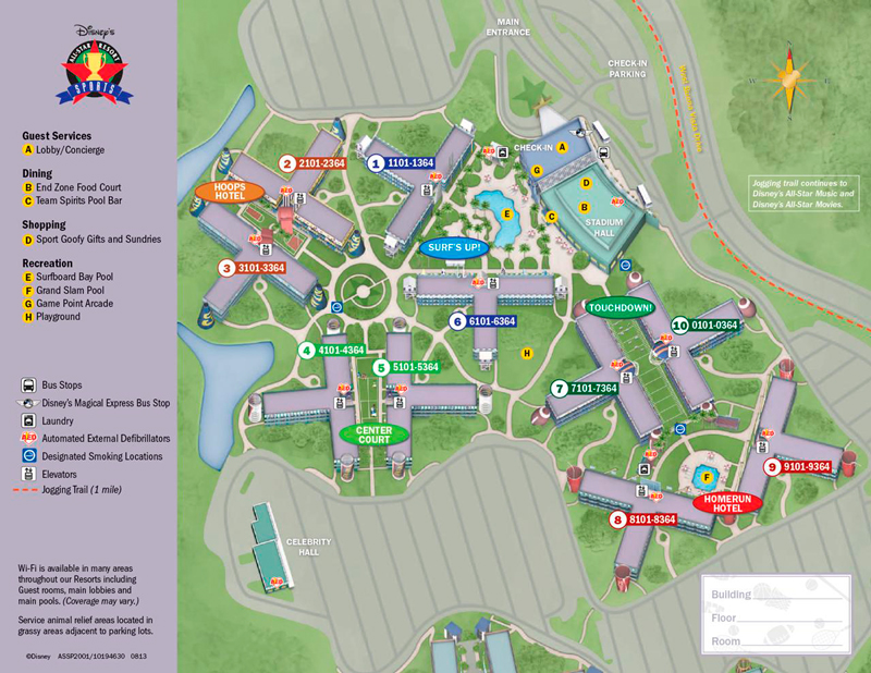 Mapa All Star Sports - Disney - Orlando