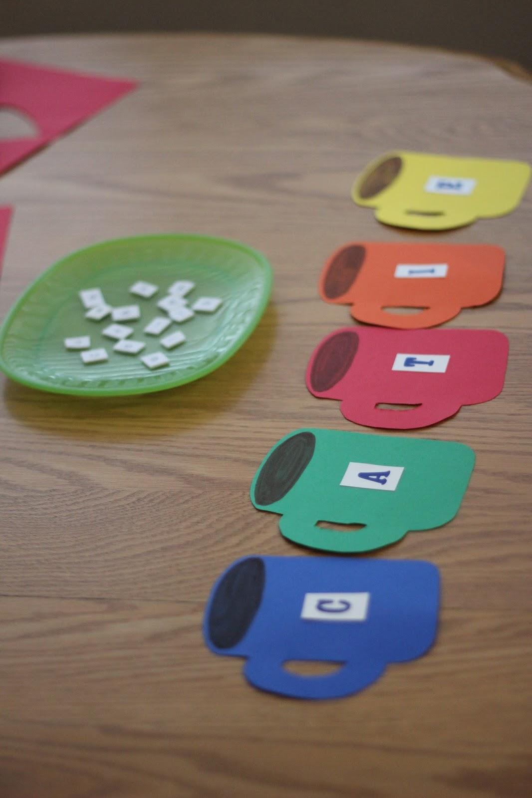 Toddler Approved Hot Chocolate Alphabet Matching Game