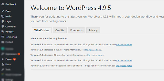 How to update wordpress step 3