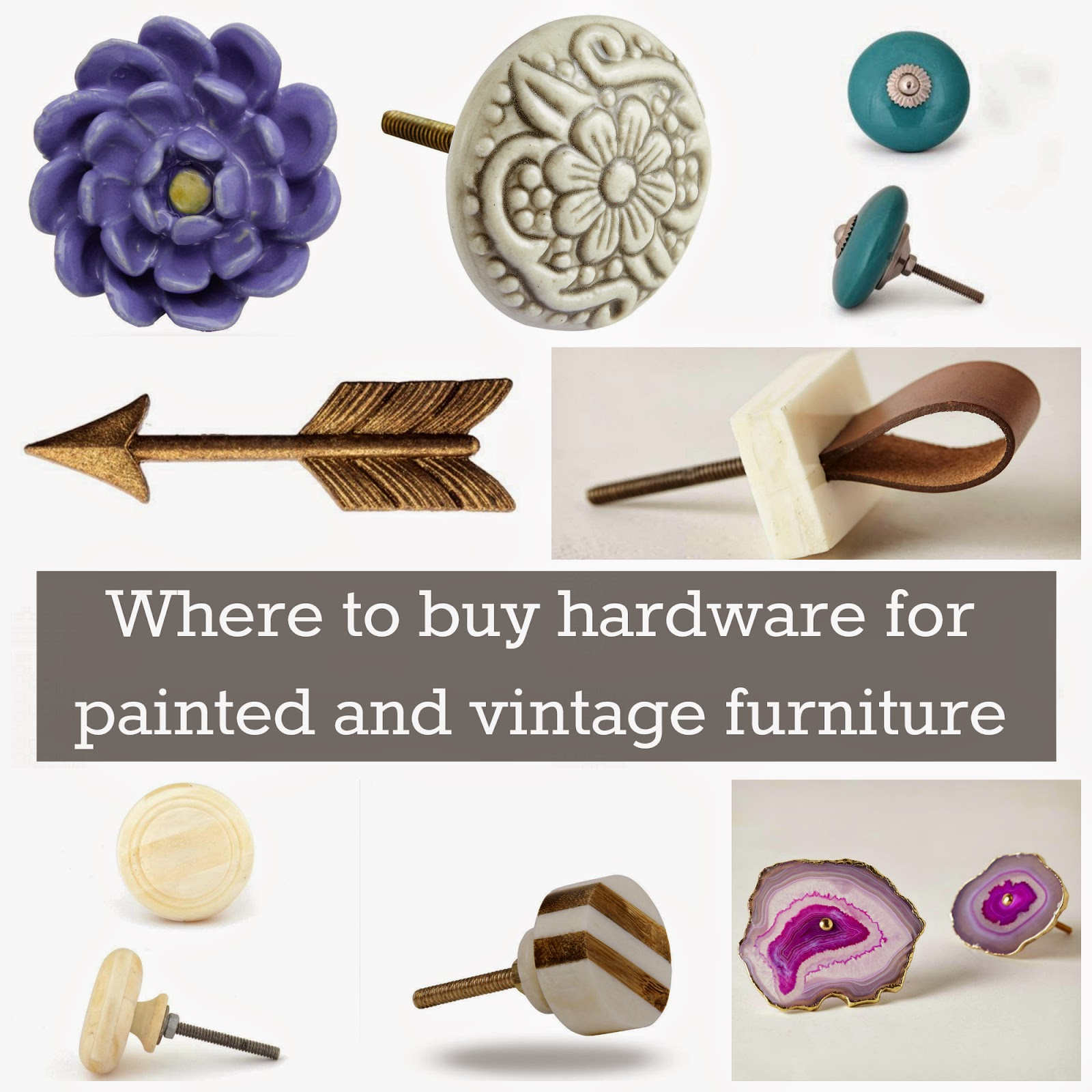 Where to Buy Hardware for Painted and Vintage Furniture The