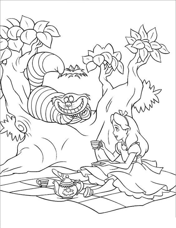 Tranh tô màu Alice ở xứ sở thần tiên