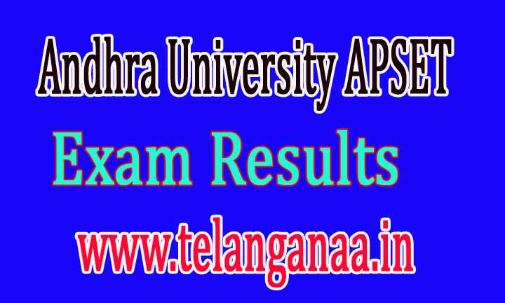 Andhra University APSET Exam Results 2016