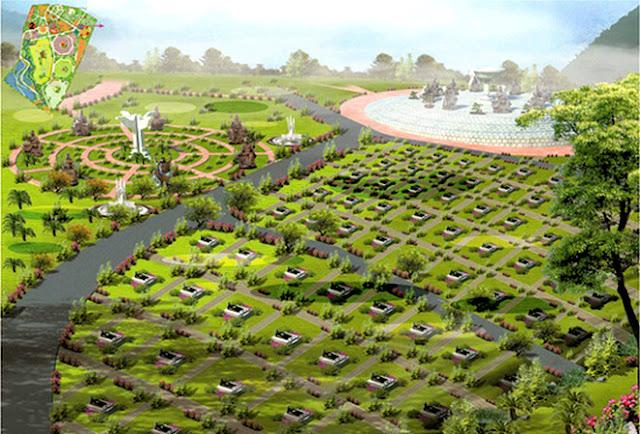 Khu công viên, nghĩa trang S4 4-2 có diện tích khoảng 9,56ha