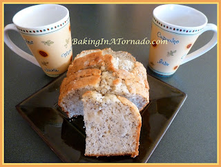 Almond Poppy Bread, a quick bread, light and flavorful | Recipe by Baking In A Tornado http://www.bakinginatornado.com/2012/08/quick-breads_5.html | #recipe
