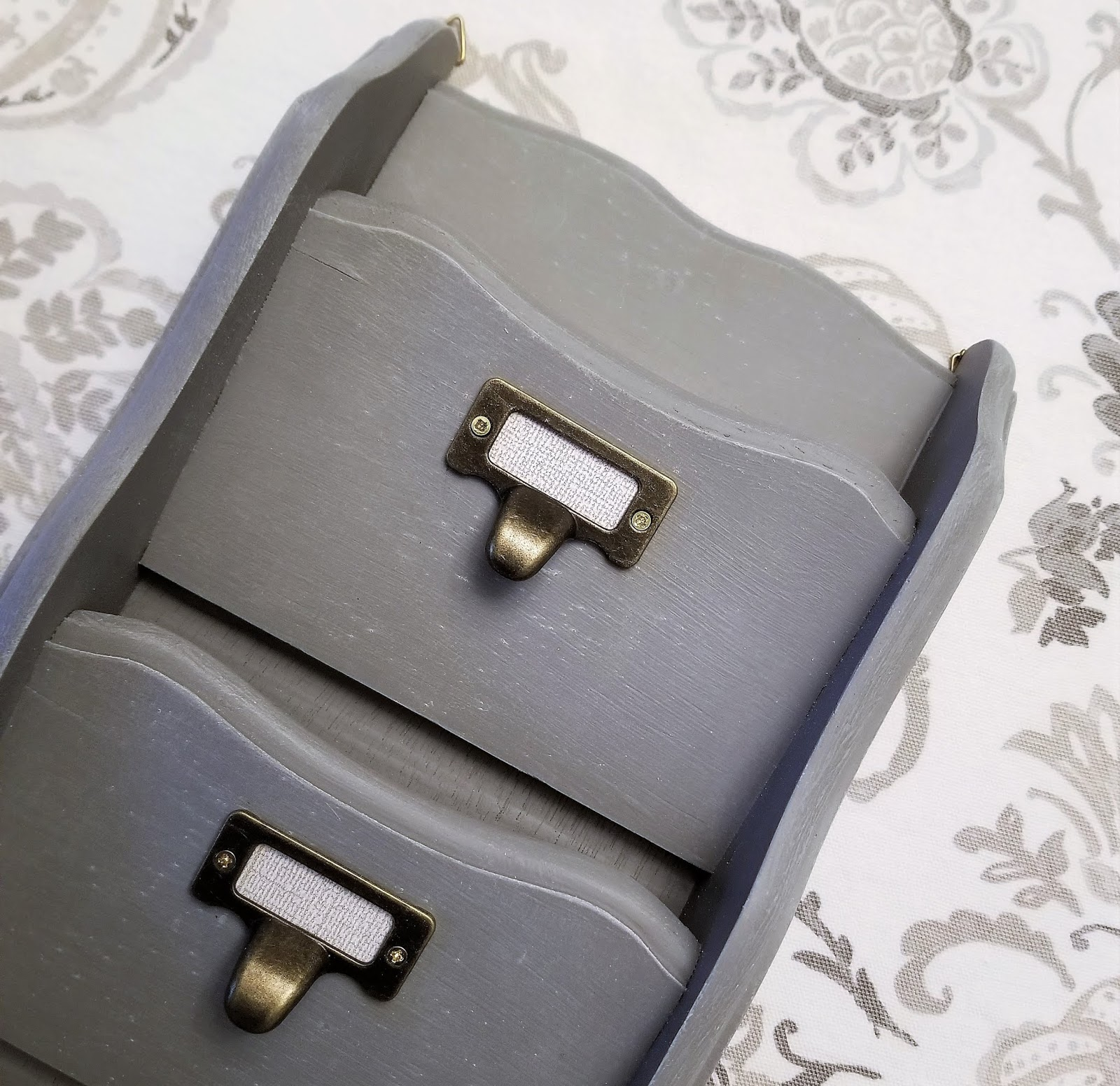 DIY Gray Mail Sorter with Brass Hardware