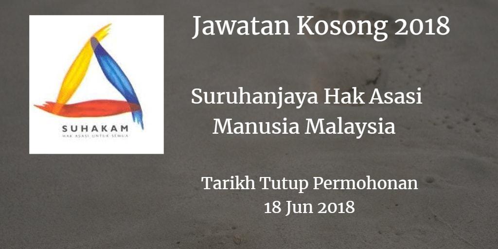 Jawatan Kosong SUHAKAM 18 Jun 2018