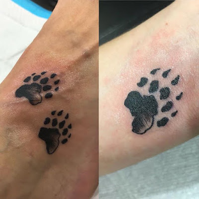 Small Bear Paw Tattoo