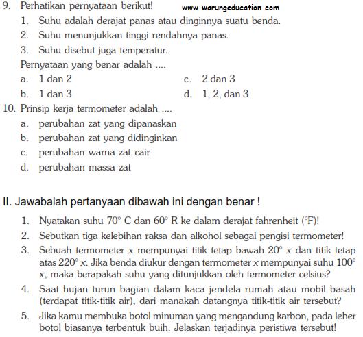 Soal Ulangan Ipa Fisika Smp Kelas 7 Bab Pengukuran