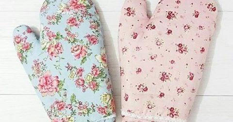 jual sarung tangan dapur ( mitten ) flower unik ~ hello