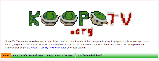 KoopaTV pages header March 2017