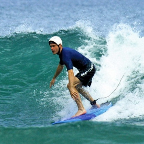 Tinuku Travel Surfing Tanjung Saruri in Biak Island riding Pacific Ocean accumulated waves hit most southern boundary