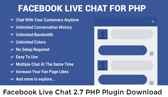Facebook Live Chat 2.7 PHP Plugin [Download]