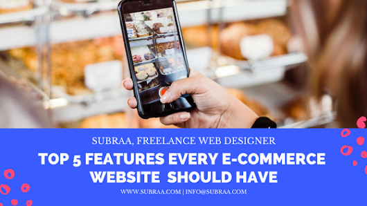 Top 5 Features every eCommerce Website should have