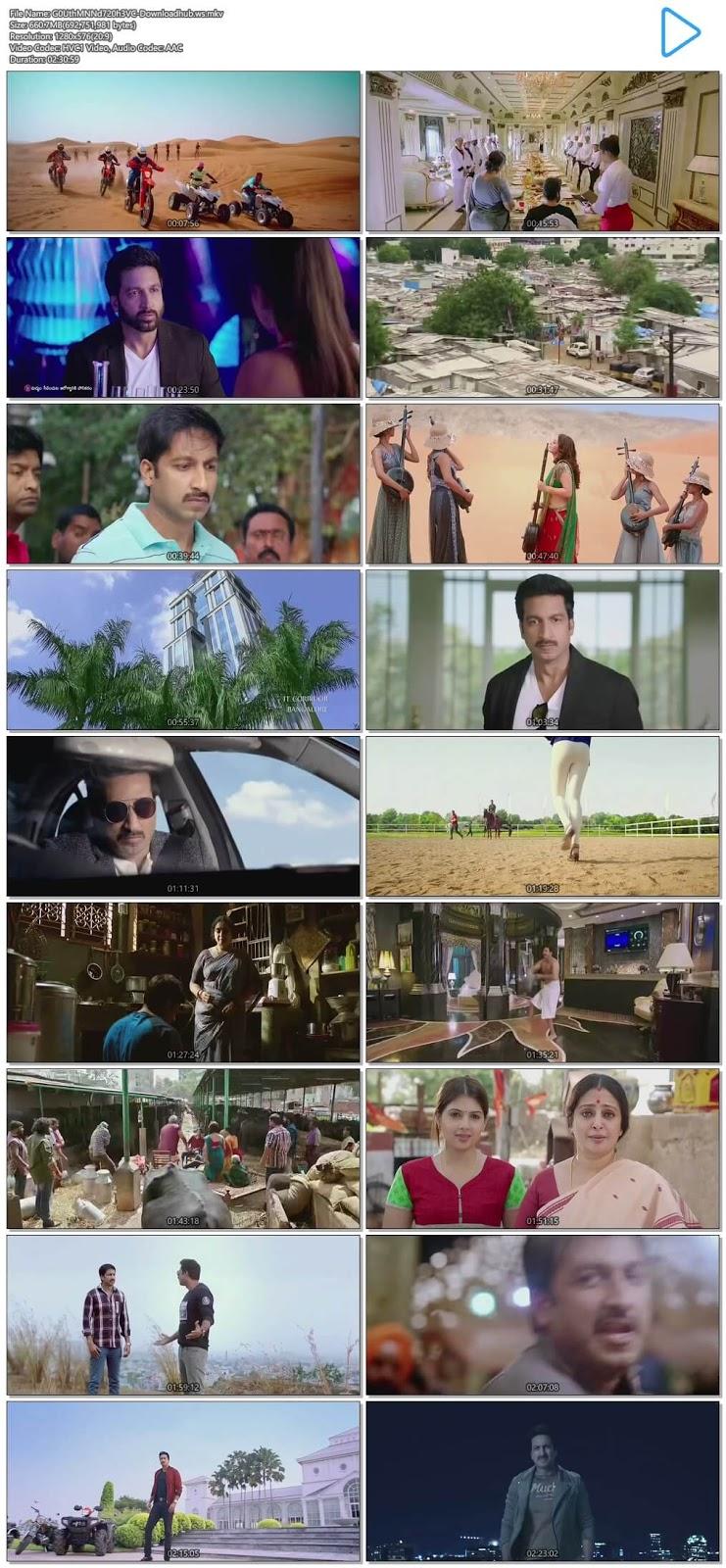 Goutham Nanda 2017 UNCUT Hindi Dual Audio 720p HEVC HDRip Free Download