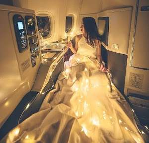 Business Class Passenger's Glamorous Mid-Air Snap Sparks Outrage Online