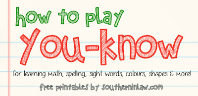 Free You-Know Sight Words Card Game Printable - for learning math, spelling, sight words, literacy, numeracy, colours, shapes and to learn whilst having fun