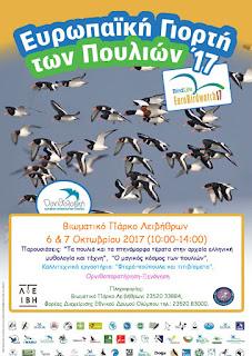 Ευρωπαϊκή Γιορτή Πουλιών στα Λείβηθρα