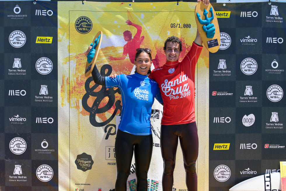 1 Garazi Sanchez Ortun EUK and Andy Criere FRA Santa Cruz Pro 2016 foto Laurent Masurel