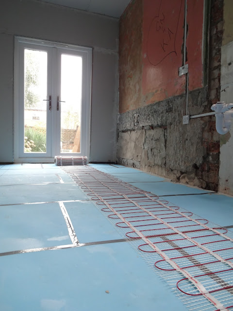 DIY electric underfloor heating