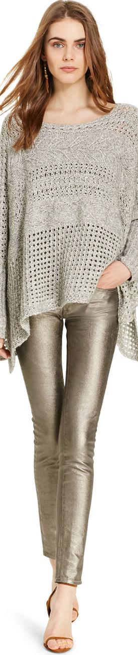 Ralph Lauren Tompkins Metallic Skinny Jean