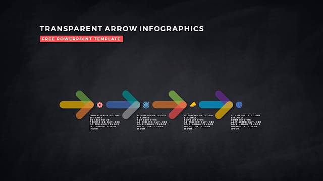 Transparent Arrow Design Elements for Free PowerPoint Template Slide 19