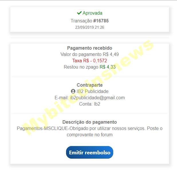 MSclique  - COMPARTILHAMENTO DE RECEITA