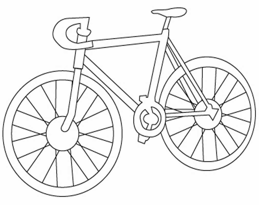 Mewarnai Gambar Sepeda Mewarnai Gambar