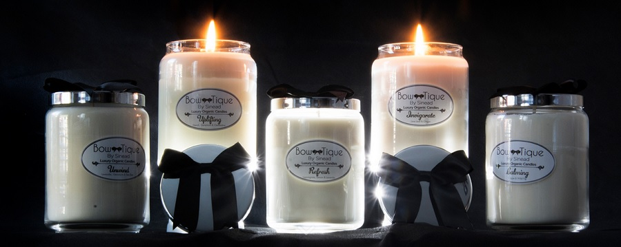 Bow-tique By Sinead, Luxury Organic Scented Candles