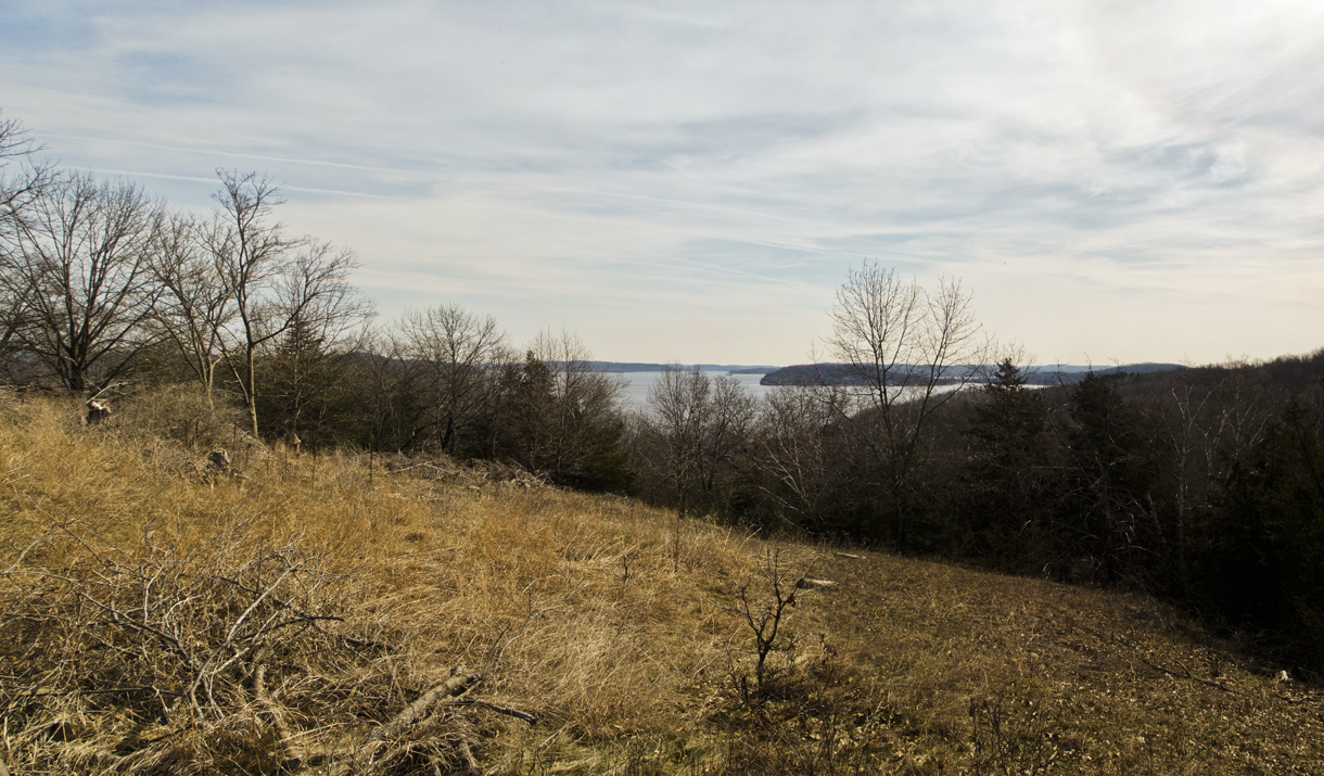 view of lake wisconsin from rolling hill