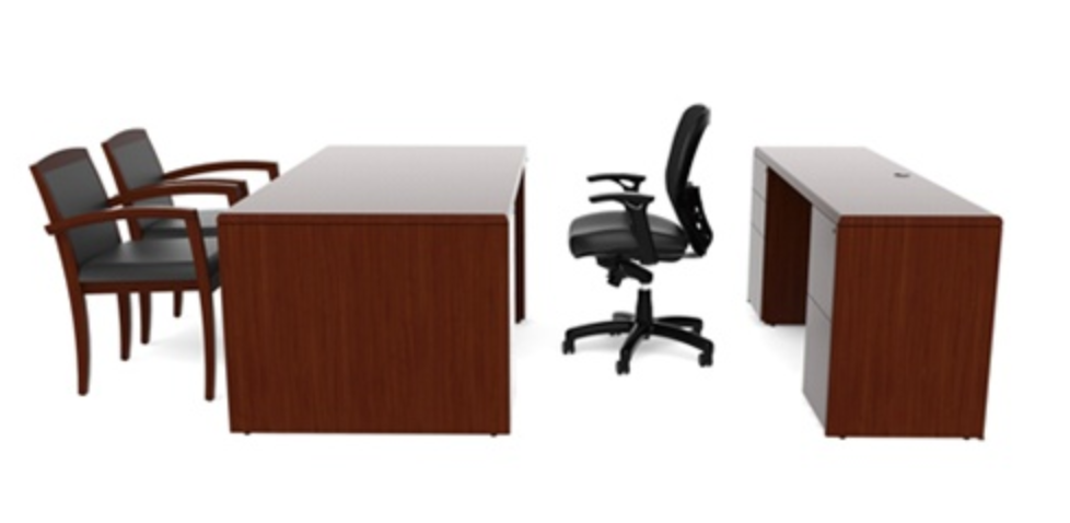 Cherryman Ruby Desk and Credenza