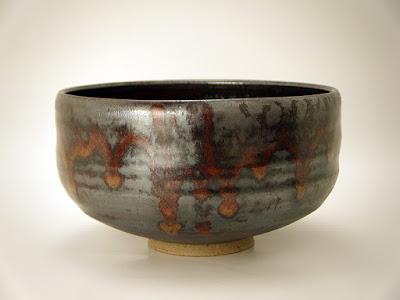会津本郷焼窯元紋平窯「流紋焼」 の抹茶碗