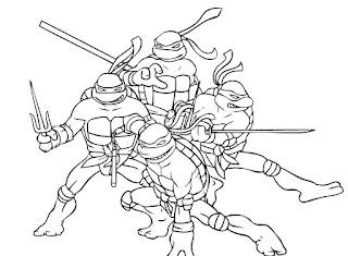 Ζωγράφισε τα χελωνονιντζάκια