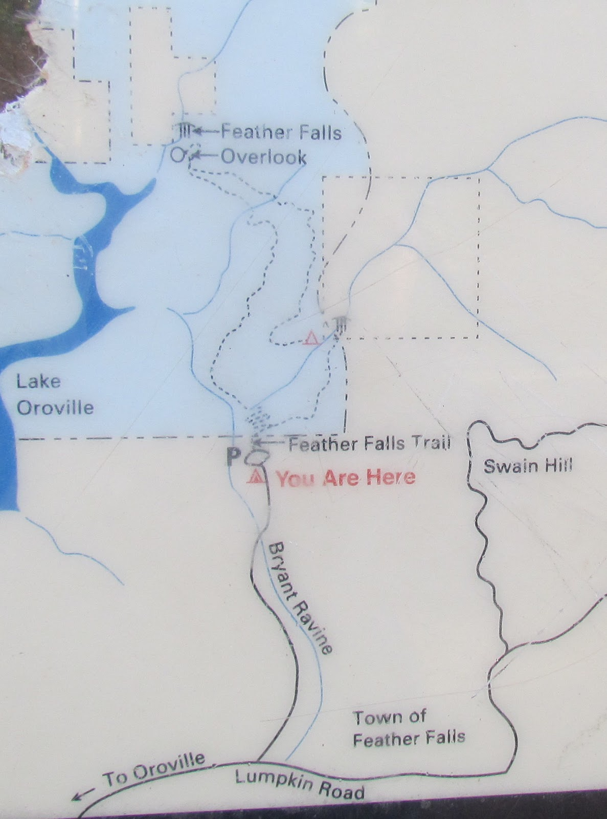 Lake Oroville Feather Falls Map
