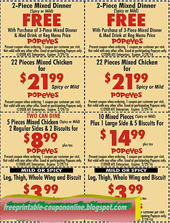 Popeyes coupons md 2018