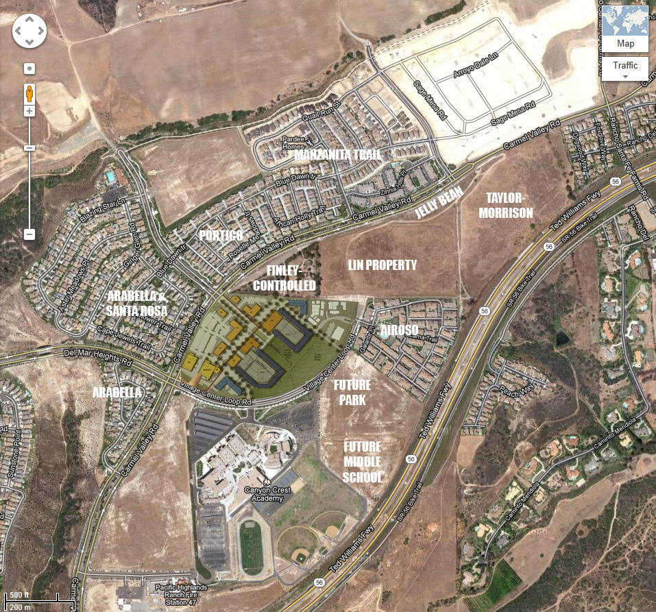 Aerial Photography Map Of Highlands Ranch Co Colorado: Pacific Highlands Ranch Village Center