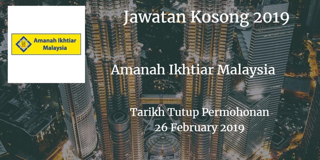 Jawatan Kosong AIM 26 February 2019