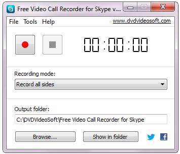 Free Video Call Recorder for Skype  -  Δωρεάν πρόγραμμα καταγραφής των βίντεο-συνομιλιών στο Skype