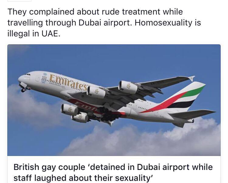 British Gay Couple detained at Dubai Airport.
