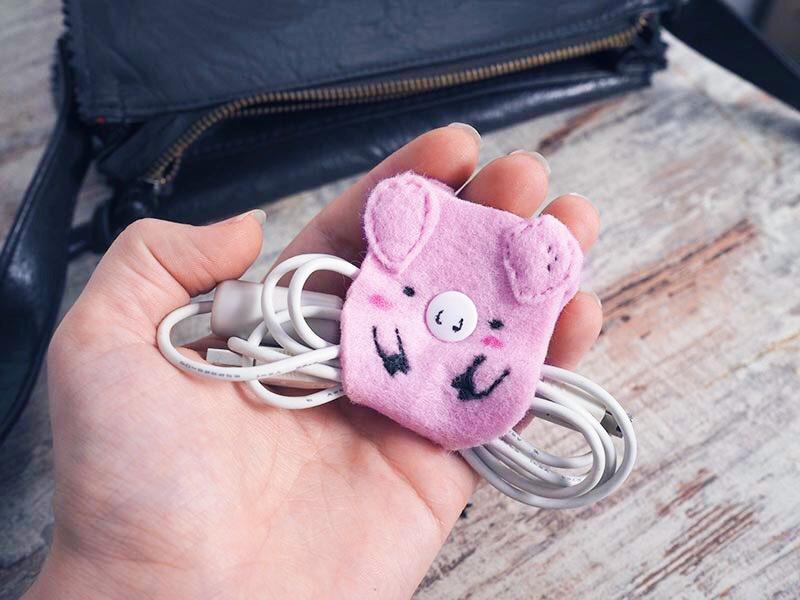 KuneCoco • DIY • Schweine-Kabelhalter