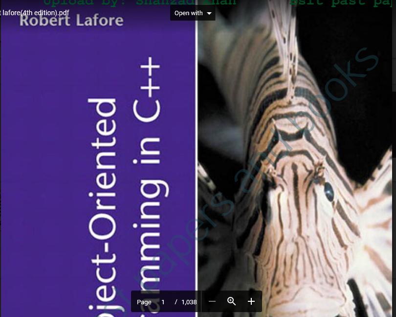 object oriented programming c++ robert lafore pdf