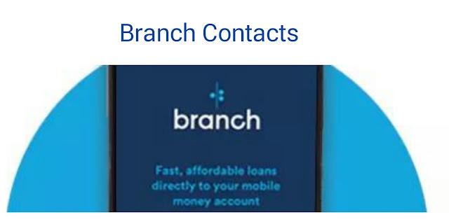 Branch international loan app contacts in kenya
