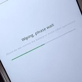 menunggu wipe data dan cache oppo a37