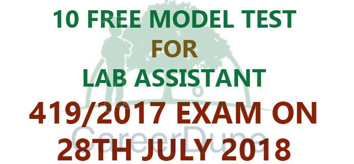FREE MOCK TEST LAB ASSISTANT 419