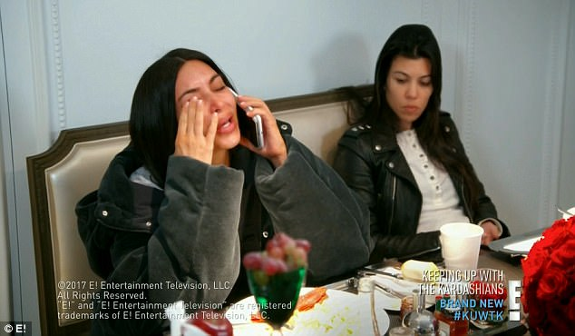 Kim Kardashian breaks down in tears on KUWTK following Kanye's mental breakdown
