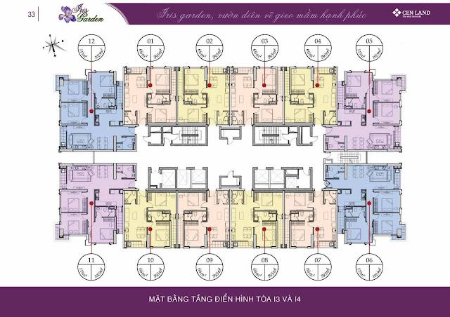 Thiết kế tòa I4 - Iris Garden