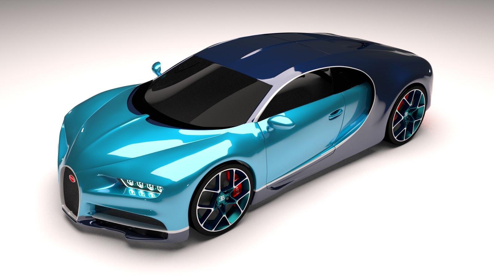 Free 3D Bugatti Chiron .blend file