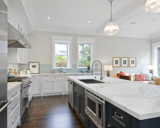 White Marble Counter : The beauty of super white granite countertops
