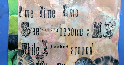 Art Journal Adventures - A Reference to Time (Process)