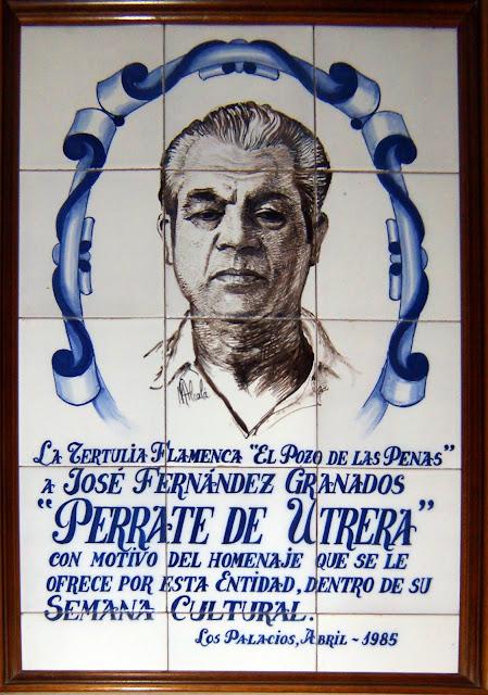 Perrate de Utrera en un extraordinario cuadro derámico conmemorativo de la semana cultural del Pozo de las Penas de Los Palacios