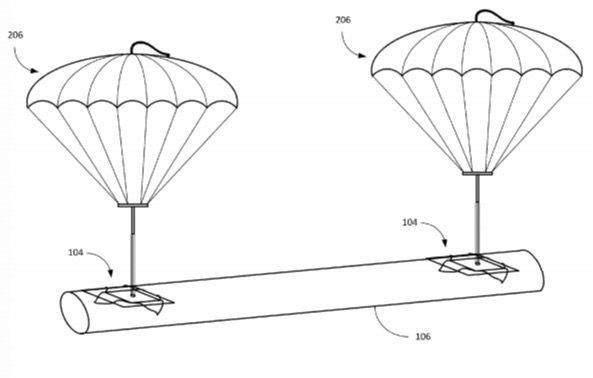Livraison des colis en Parachutes par Amazon !